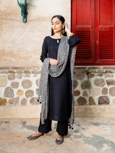 Load image into Gallery viewer, Black Solid Kurta Palazzo Set