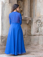 Load image into Gallery viewer, Blue Asymmetrical Dress