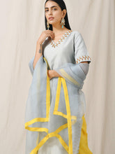 Load image into Gallery viewer, Blue Embellished Kurta Pant Set - The Wedding Brigade