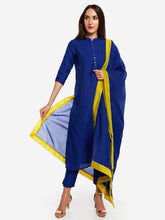 Load image into Gallery viewer, Blue Embroidered Dupatta