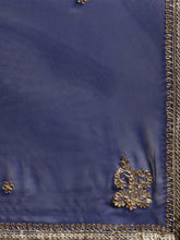 Load image into Gallery viewer, Blue Georgette Gota Patti Saree