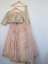 Load image into Gallery viewer, Blush Mirror & Pearl Sequin Lehenga Set