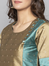 Load image into Gallery viewer, Brown Embroidered A line Kurta