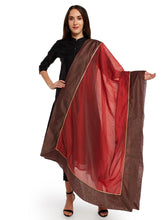 Load image into Gallery viewer, Brown Gota Patti Dupatta