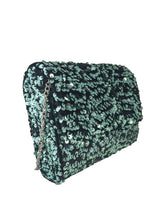 Load image into Gallery viewer, Green Sequined Sling Bag