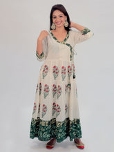 Load image into Gallery viewer, Beige Printed Anarkali Kurta