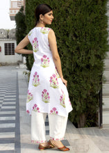 Load image into Gallery viewer, Dahlia Rose Pink Cotton Kurta and Pant Set
