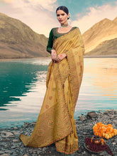 Load image into Gallery viewer, Embroidered Yellow Saree