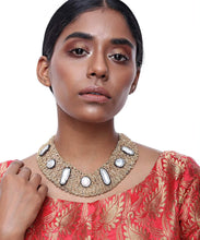 Load image into Gallery viewer, Entangled Pearl Embellished Neck Piece