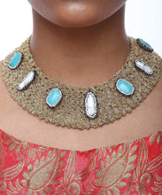 Load image into Gallery viewer, Entangled Sea Green Neck Piece - The Wedding Brigade