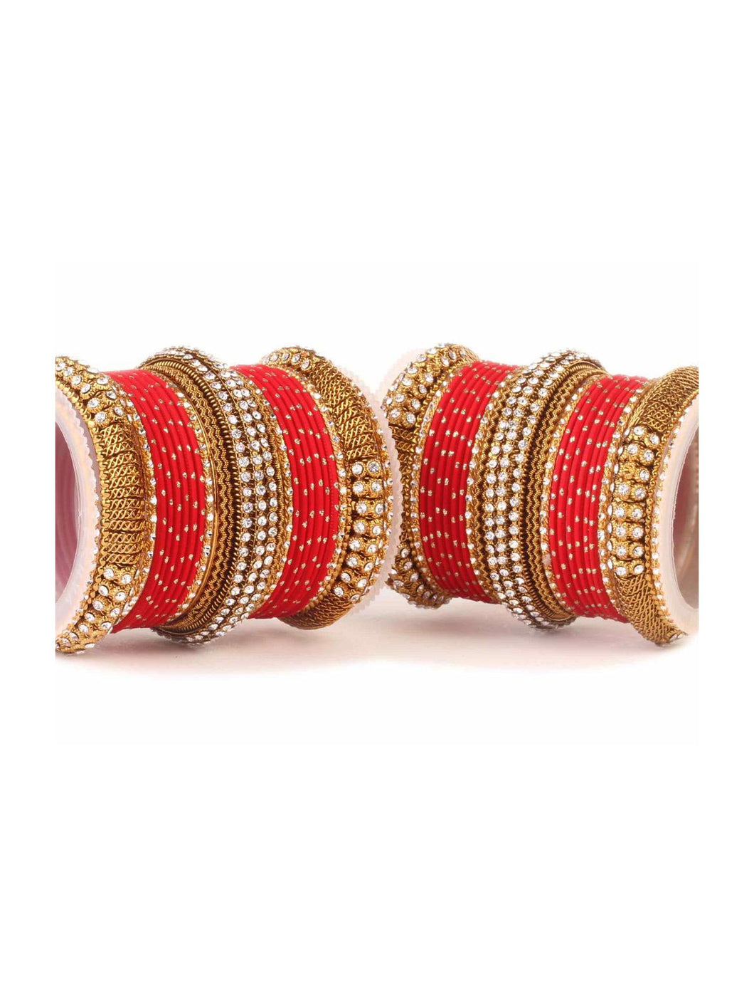 Red Bridal Jaali Work Bangle Set