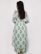 Load image into Gallery viewer, Mint Green Block Printed Kurta and Palazzo