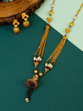Load image into Gallery viewer, Golden Chain Mangalsutra with Earrings