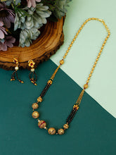 Load image into Gallery viewer, Golden Pendant Mangalsutra with Earrings