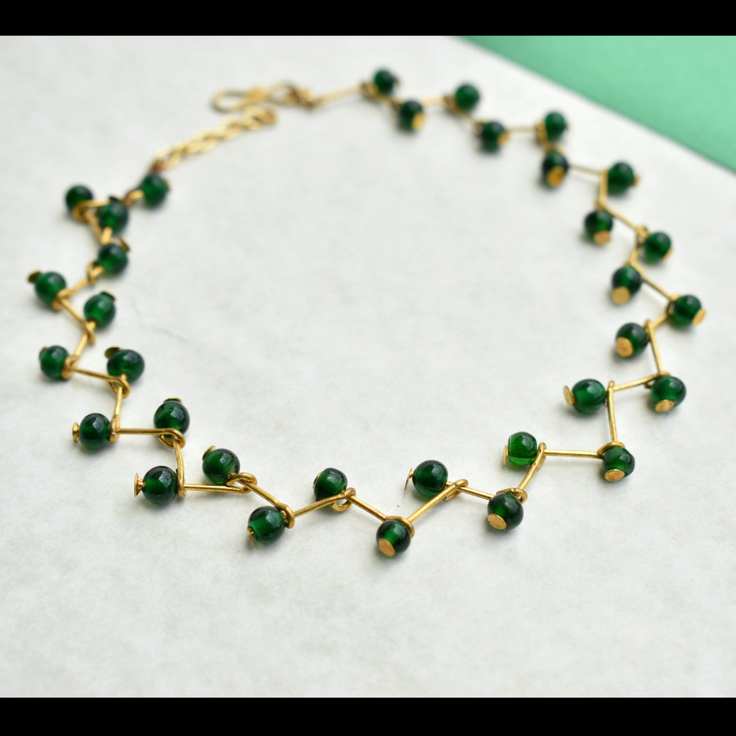 Green Beaded Anklet
