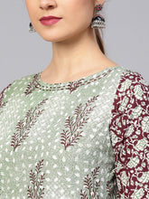 Load image into Gallery viewer, Green Booti Print Kurta
