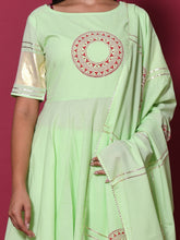 Load image into Gallery viewer, Green Gota Patti Kurta Palazzo Set