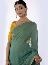 Load image into Gallery viewer, Green Gota Patti Saree with Unstitched Blouse