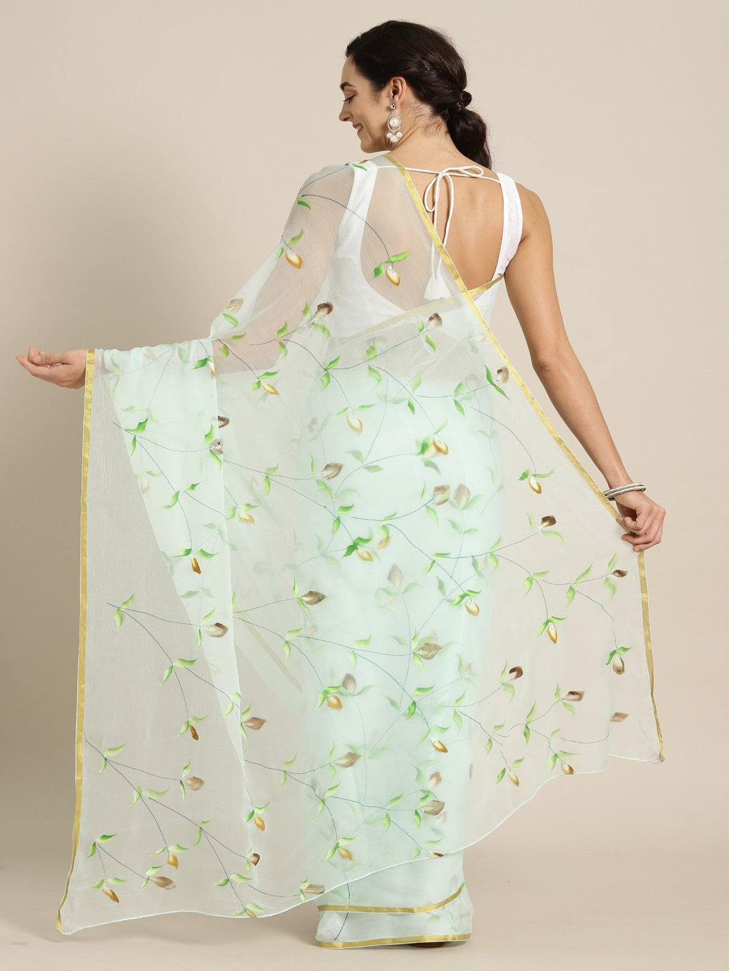 Green Hand Craft Saree