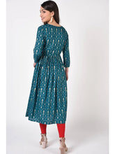 Load image into Gallery viewer, Green Rayon Anarkali Kurta