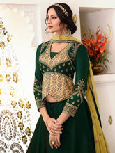Load image into Gallery viewer, Green Semi-Stitched Zari Embrpidered Lehenga Choli Set