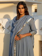 Load image into Gallery viewer, Grey Gota Patti Anarkali Set