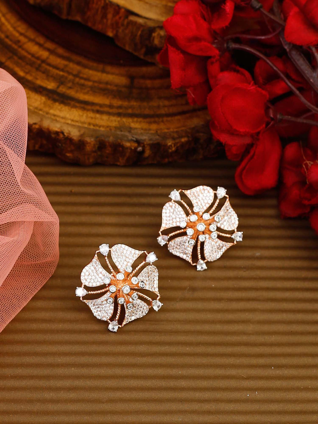 Hibiscus Shaped  Studs