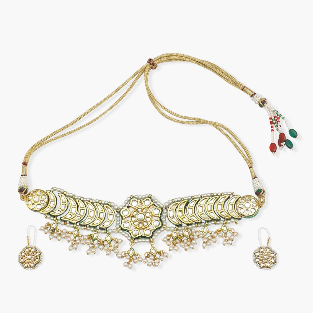Kundan Choker with Earrings