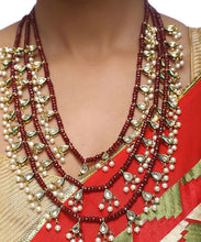 Load image into Gallery viewer, Kundan Neck Piece with Studs