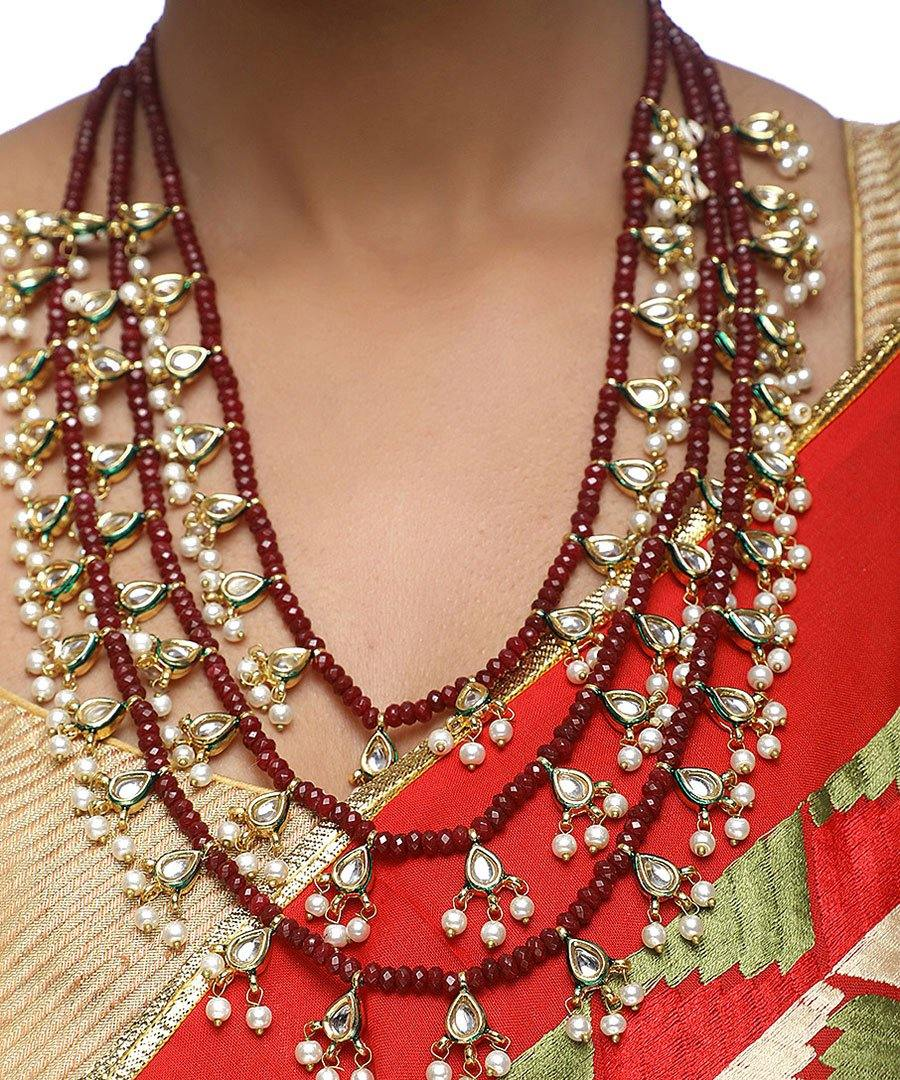 Kundan Neck Piece with Studs