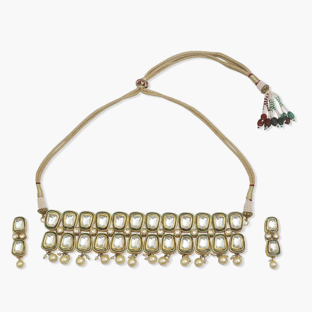 Meenakari Kundan Choker with Earrings