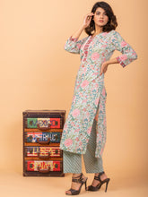 Load image into Gallery viewer, Multi Color Kurta Pant Set