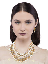 Load image into Gallery viewer, Multi Layered Kundan Studded Necklace Set