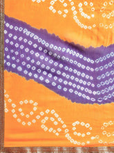 Load image into Gallery viewer, Multicolor Hand Dyed Chiffon Saree - The Wedding Brigade
