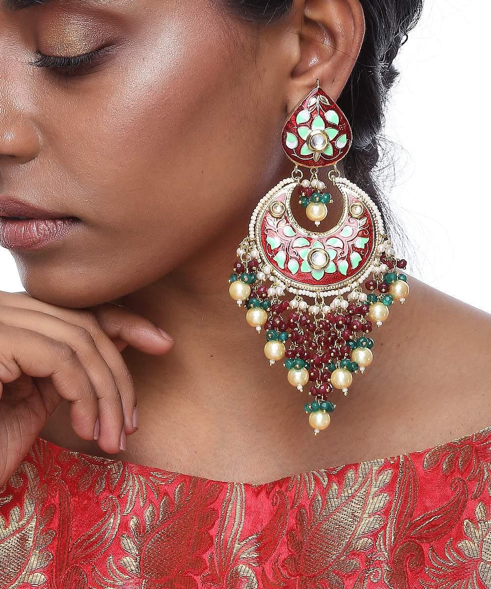 Multicolor Meenakari Earrings