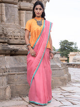 Load image into Gallery viewer, Pink Leheriya Saree