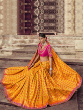 Load image into Gallery viewer, Orange Floral Saree