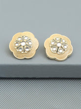 Load image into Gallery viewer, Peach Floral Ethnic Studs