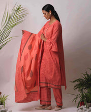 Load image into Gallery viewer, Peach Printed Dupatta