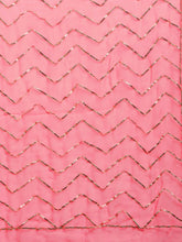 Load image into Gallery viewer, Pink Chiffon Gota Patti Saree