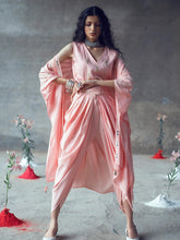 Load image into Gallery viewer, Pink Dhoti Set with Jacket