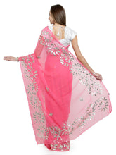 Load image into Gallery viewer, Pink Embellished Saree - The Wedding Brigade