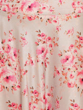 Load image into Gallery viewer, Pink Floral Print A-Line Skirt Set