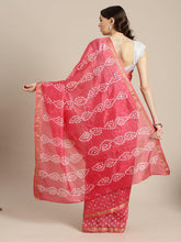 Load image into Gallery viewer, Pink Hand Bandhani Saree
