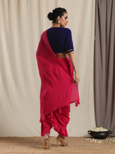 Load image into Gallery viewer, Pink Ruffled Saree