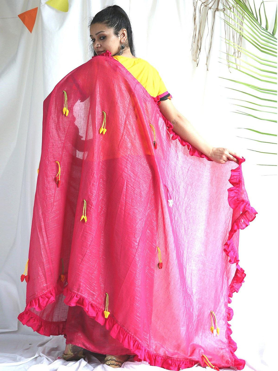 Pink Shimmer Saree - The Wedding Brigade