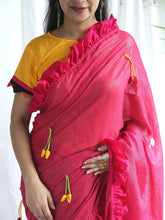 Load image into Gallery viewer, Pink Shimmer Saree - The Wedding Brigade