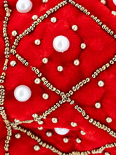 Load image into Gallery viewer, Red Pearl Embroidered Potli Bag
