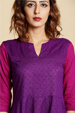 Load image into Gallery viewer, Purple Flared Anarkali Kurta