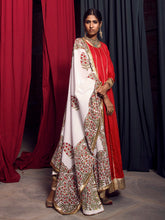 Load image into Gallery viewer, Red And Gold Gota Anarkali With Block Printed Dupatta